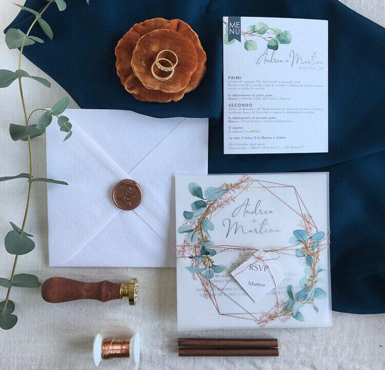 partecipazioni nozze moderne