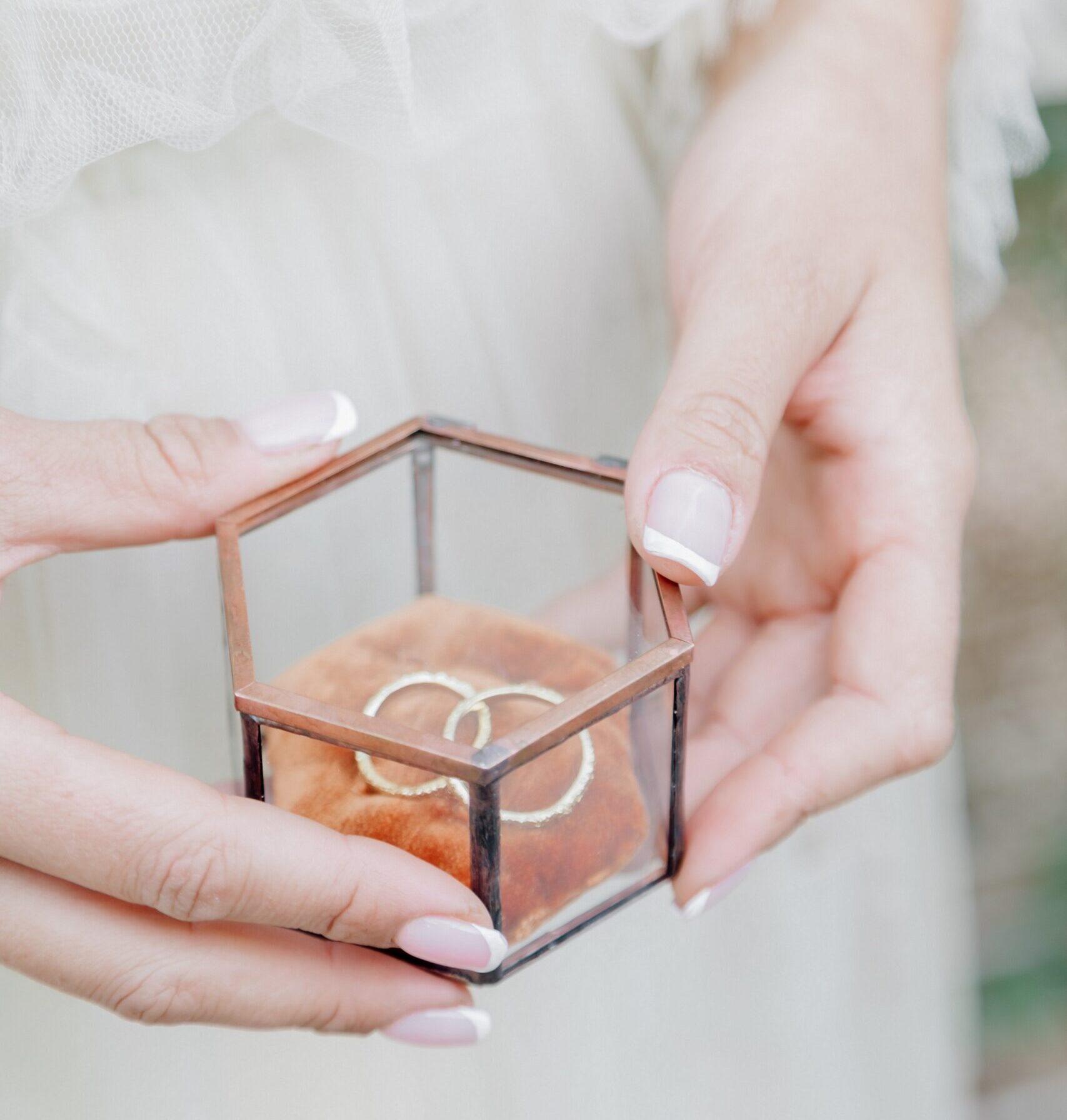 wedding styled shoot wedding ring box