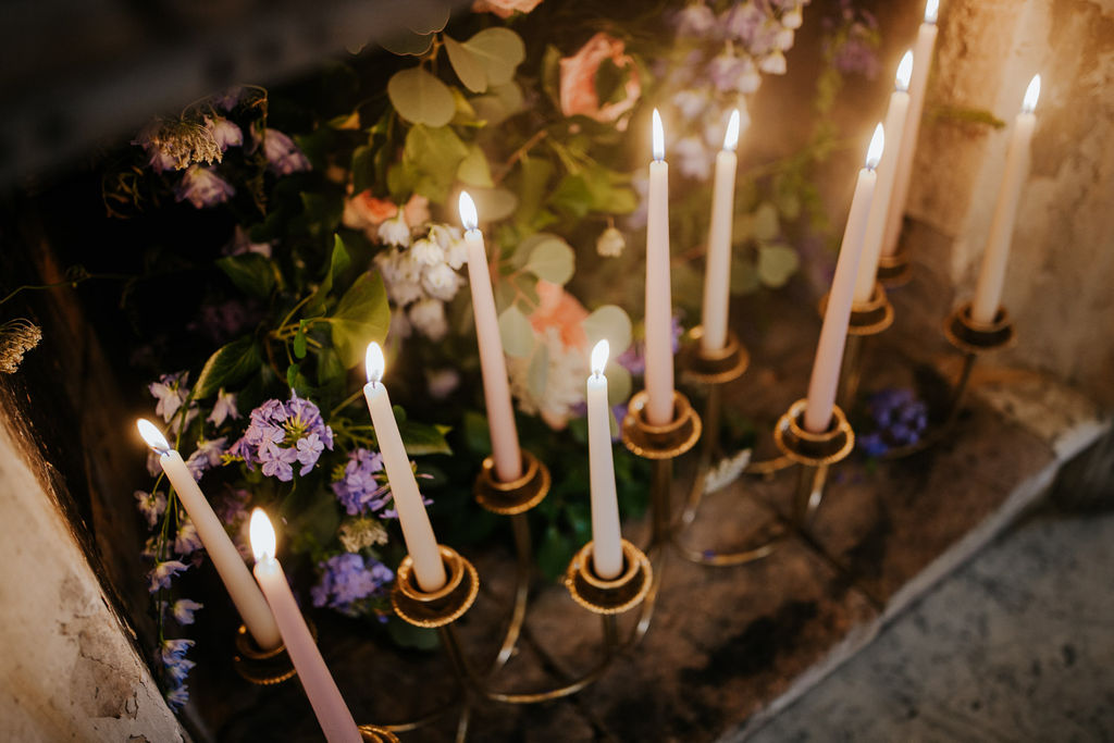 wedding candle atmosphere
