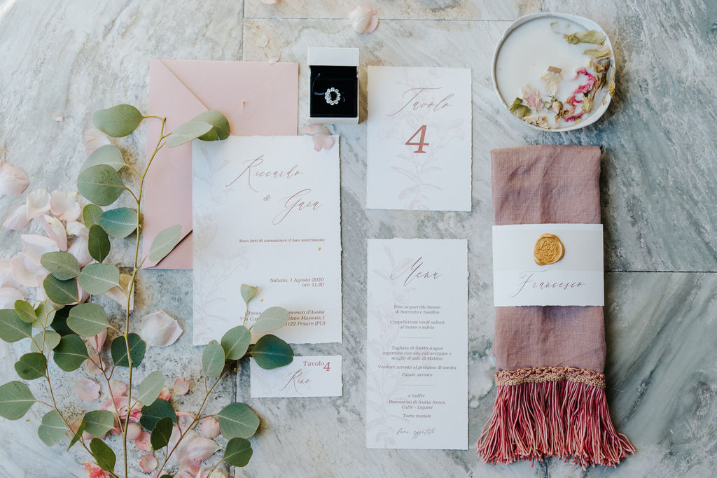 pale rose wedding graphic suite, wedding colour palette, matrimonio toni del rosa, invito matrimonio rosa